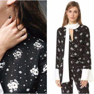Cinq a Sept Stardust Rowan Floral Bell Silk Top xs